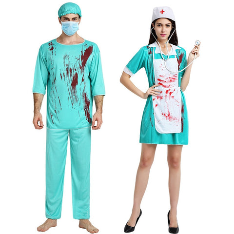 Scary Doctor bloody Nurse Uniform - True crime shop