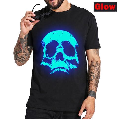 Skull Glowing T Shirt - True crime shop