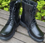 Black combat boots - True crime shop