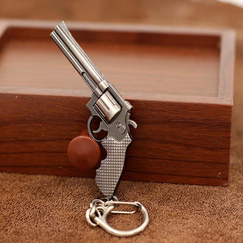 Miniature Revolver Keychain - True crime shop
