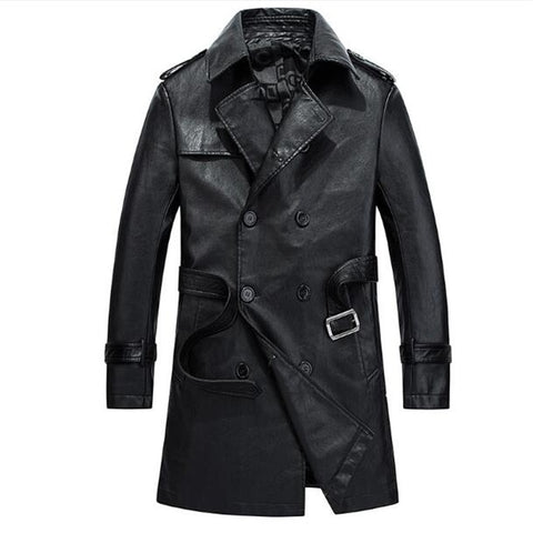 Leather Trench Coat - True crime shop
