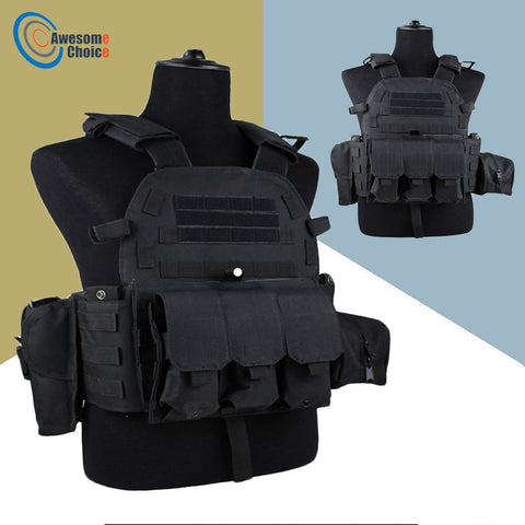 Black Tactical Vest Body armor - True crime shop