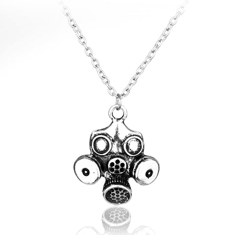 Steampunk Odditie Apocalypse Themde Gas Mask Pendant - True crime shop
