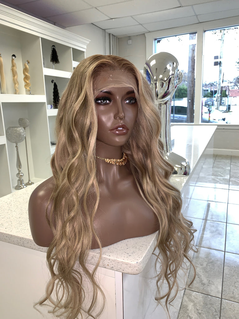 Ash Blonde Custom Full Lace Wig