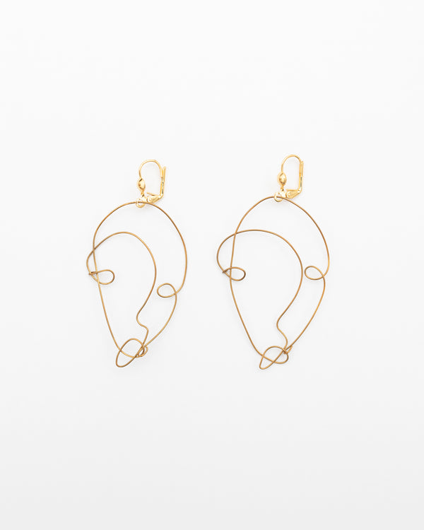 MAIROLA - Face gold earrings