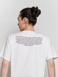 Vegan and ethical t-shirt with 'From The Art Studio' print. This heavy statement t-shirt has a unisex fit and is designed to be styled by men and women. The t-shirt was locally designed in Luxembourg, the screen print was made in Germany and the t-shirt was proudly produced in Bangladesh with FairWear certification. The production of this item has been vegan approved by Peta.