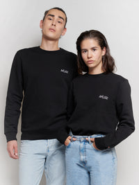 'MUSE' Black Embroidery Sweater