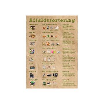 Plakat affaldssortering - Simon Holst