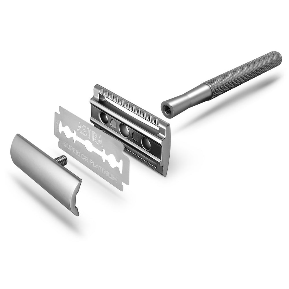 Load image into Gallery viewer, Bambaw Safety Razor med holder Silver