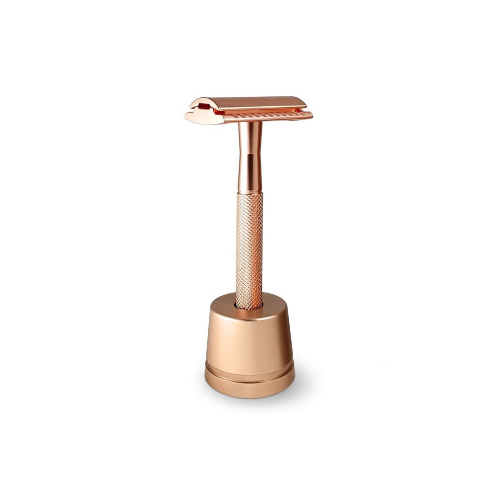 Bambaw Safety Razor med holder Rose Gold