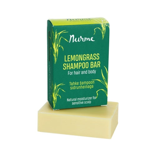 Nurme lemongrass Shampoo bar med citrongræsolie