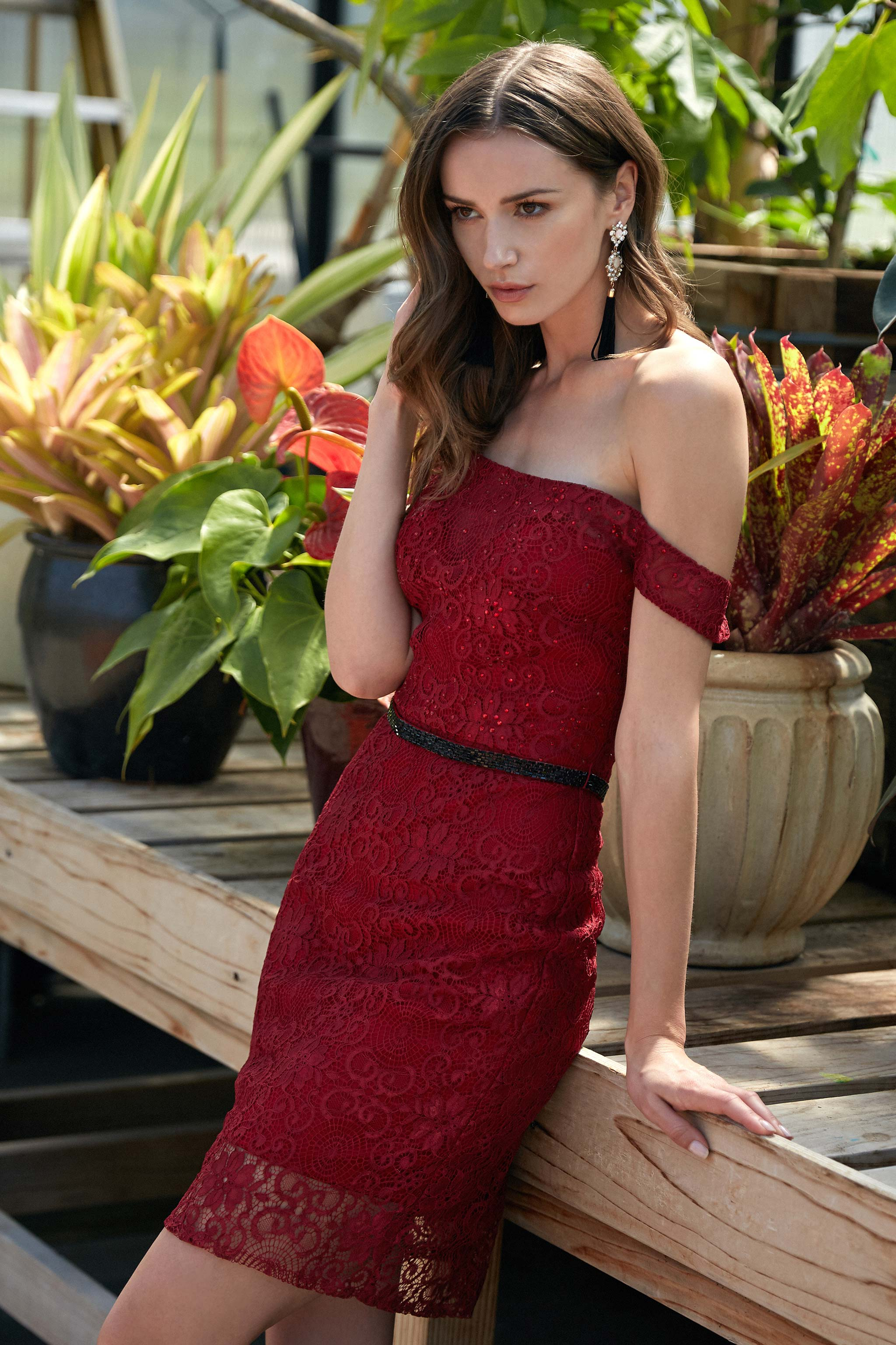 Sunny Red Wine Prom Dress