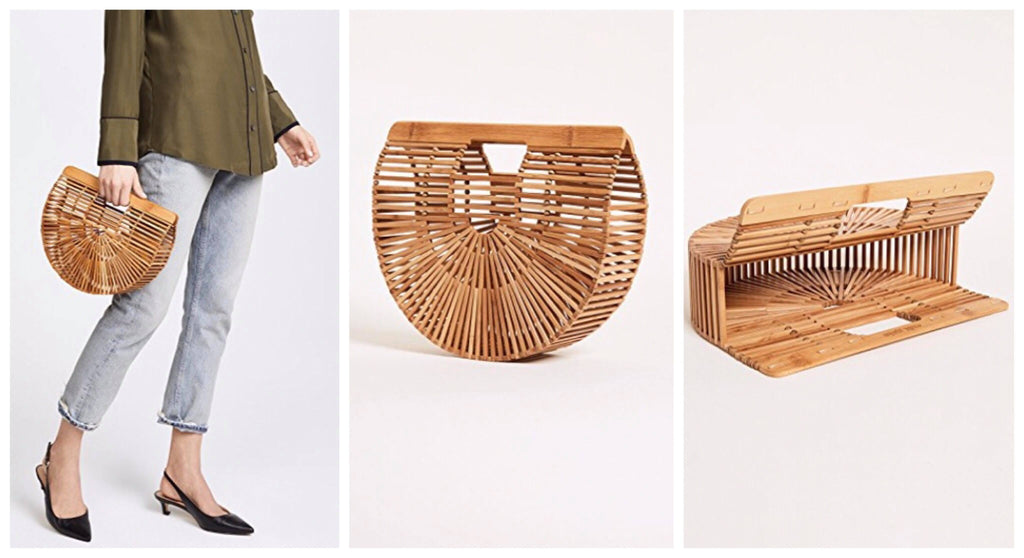 Cult Gaia Wooden Handbag