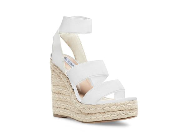 Steve Madden Collection White Wedge Heel