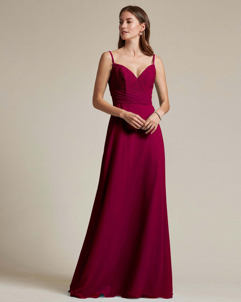 Burgundy Classic Sweetheart Shaped Top Formal Dress With Long Length Skirt