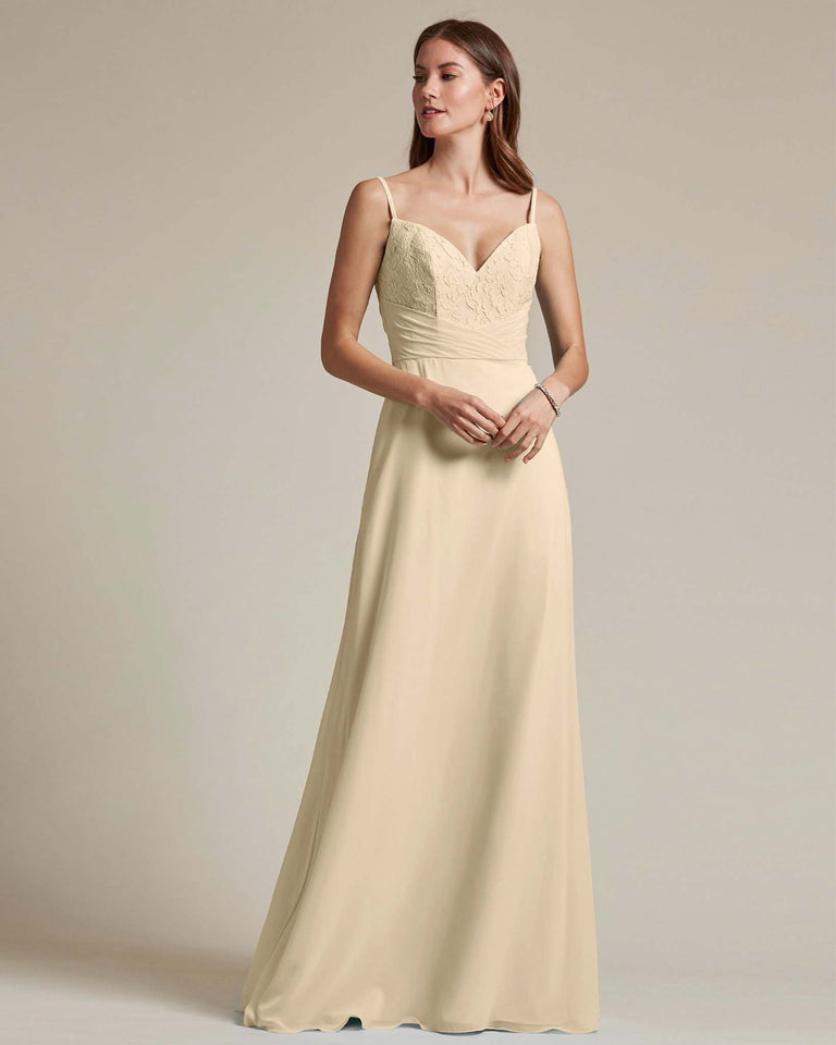 Champagne Classic Sweetheart Shaped Top Formal Dress With Long Length Skirt