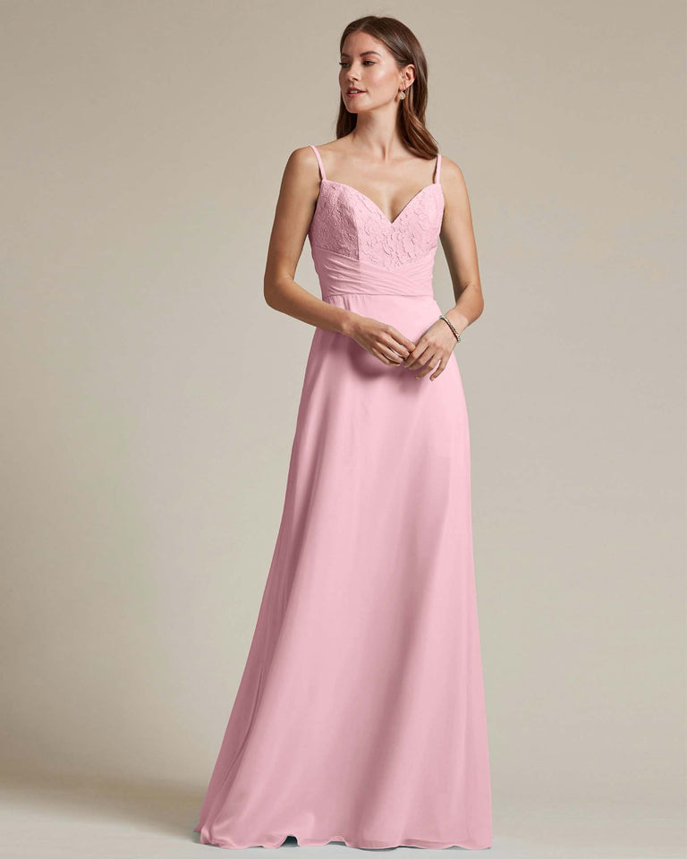 Cherry Blossom Classic Sweetheart Shaped Top Formal Dress With Long Length Skirt