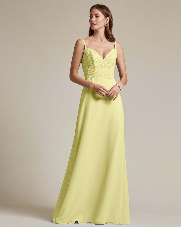 Daffodil Classic Sweetheart Shaped Top Formal Dress With Long Length Skirt