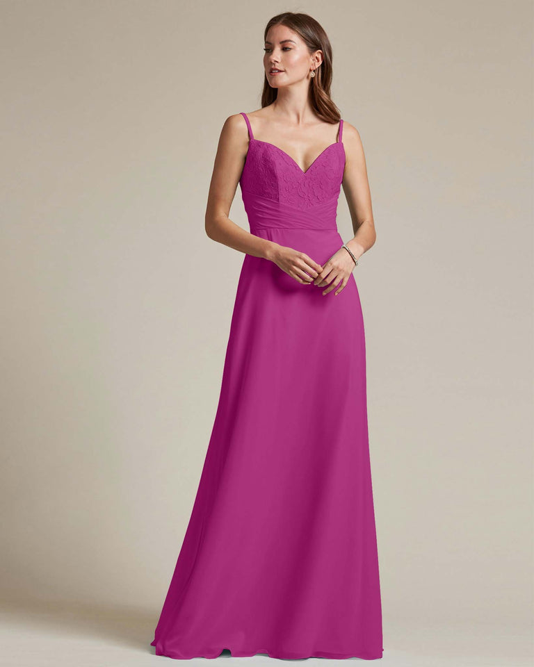 Fuchsia Classic Sweetheart Shaped Top Formal Dress With Long Length Skirt