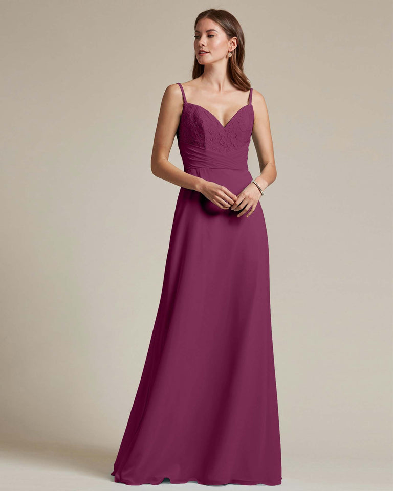 Grape Classic Sweetheart Shaped Top Formal Dress With Long Length Skirt