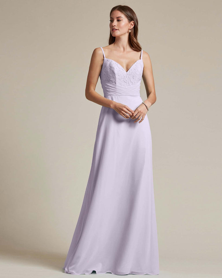 Lilac Classic Sweetheart Shaped Top Formal Dress With Long Length Skirt