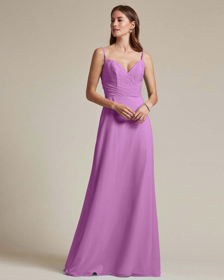 Purple Classic Sweetheart Shaped Top Formal Dress With Long Length Skirt