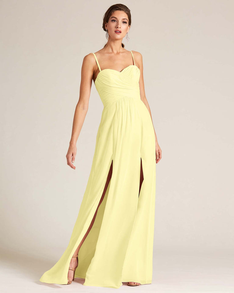 Daffodil Double Slit Skirt Formal Dress