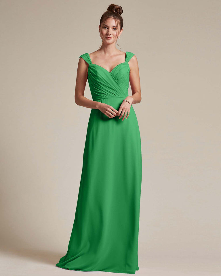 Jolly Green Sweetheart Neckline Long Length Skirt Bridesmaid Dress
