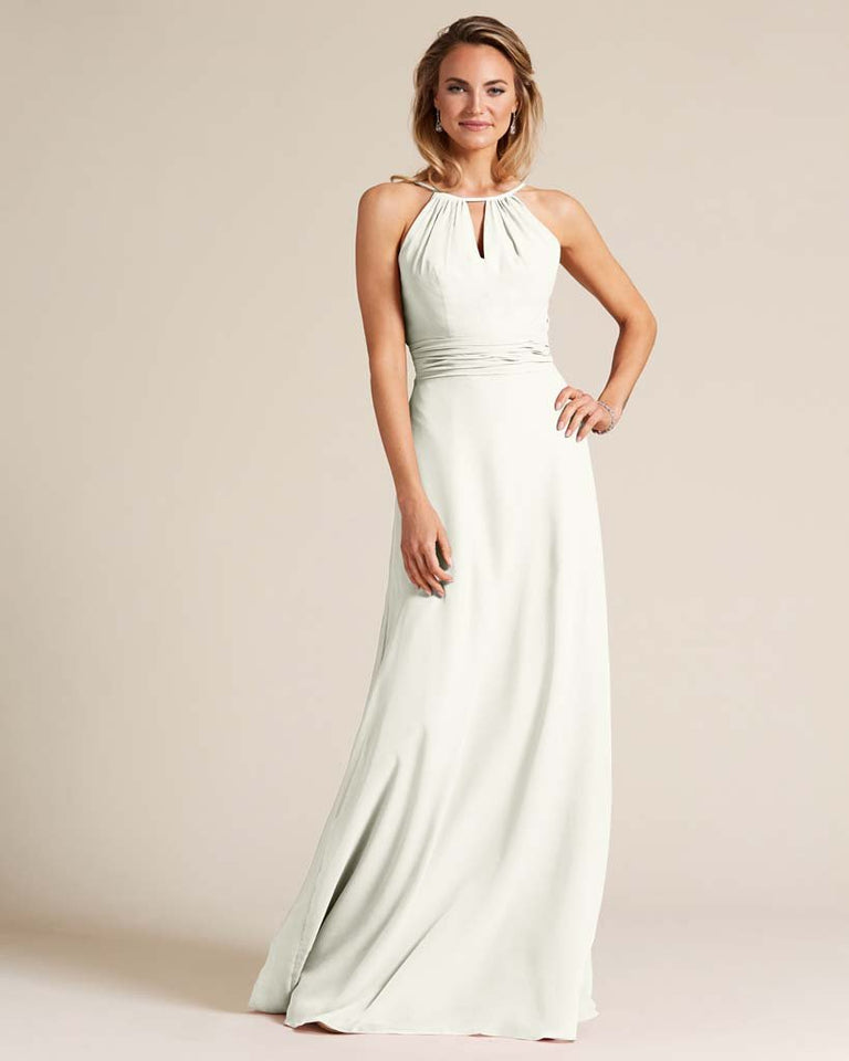Ivory Cut Out Back Long Dress
