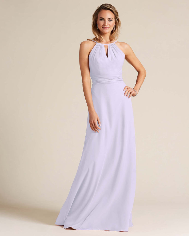 Lilac Cut Out Back Long Dress