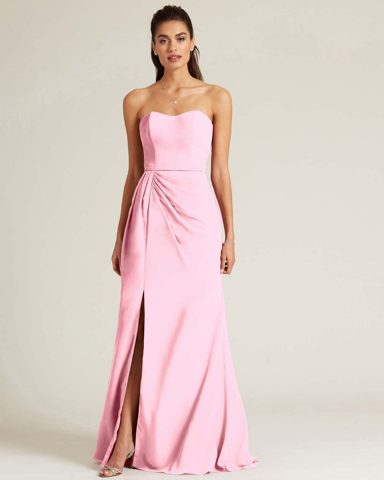 Cherry Blossom Strapless Sweetheart Neckline Formal Gown