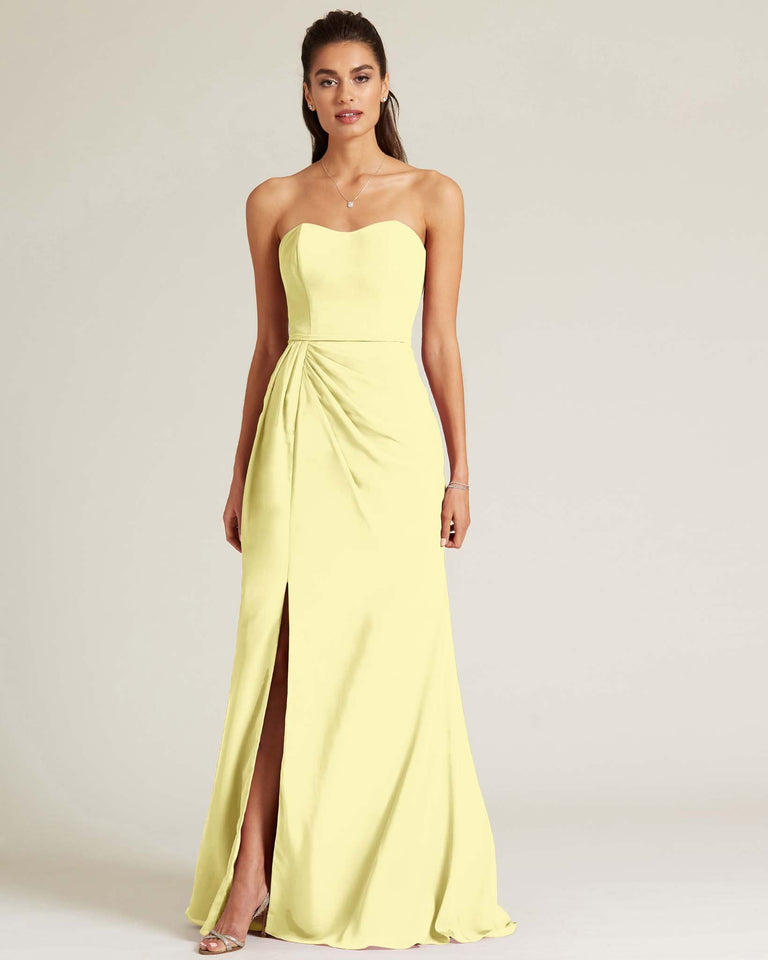 Daffodil Strapless Sweetheart Neckline Formal Gown