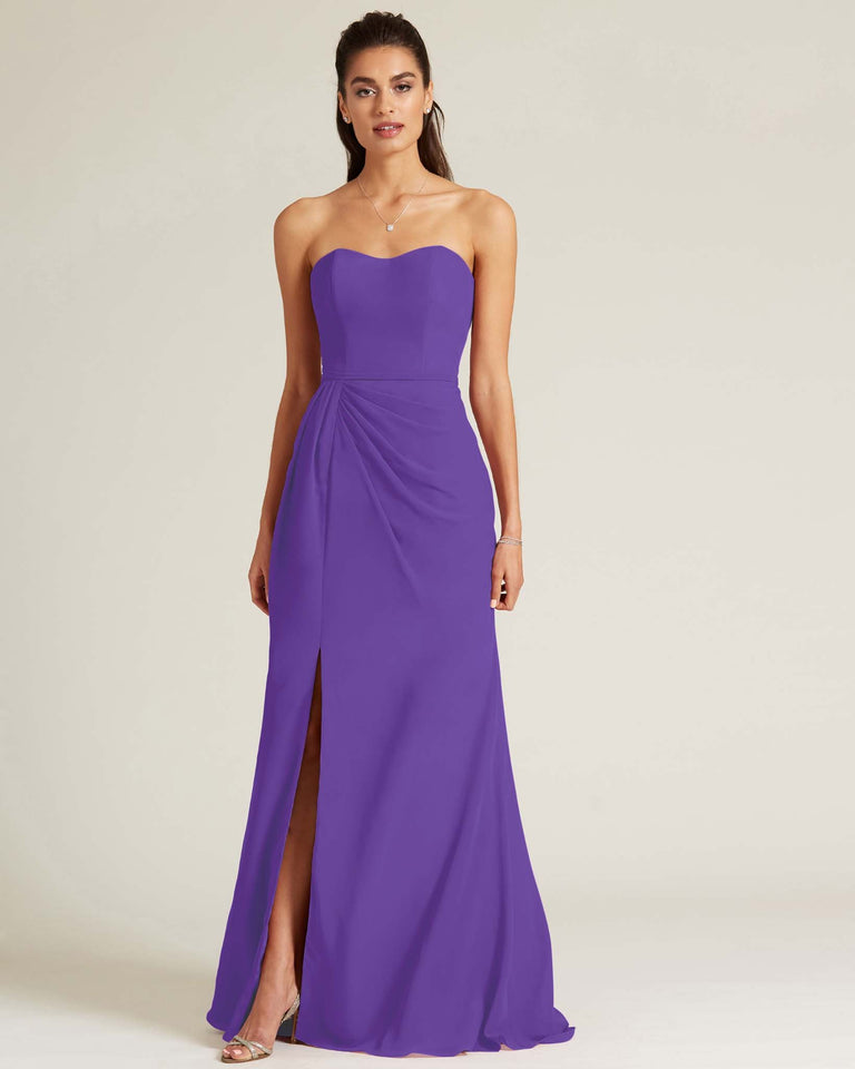 Regency Strapless Sweetheart Neckline Formal Gown