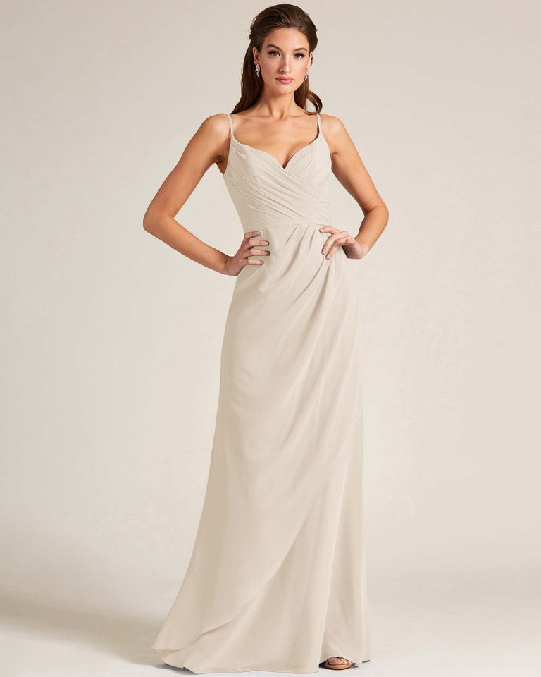 Frost Sleeveless V Neck Style Long Dress