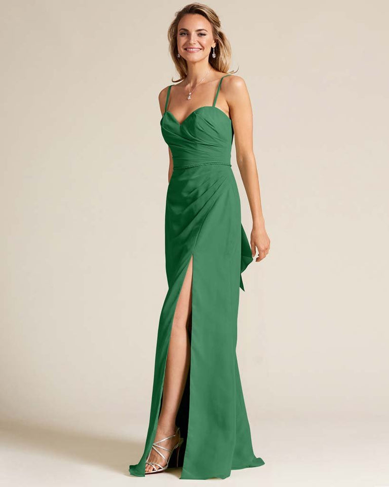 Jolly Green Sleeveless Sweetheart Neckline Evening Dress