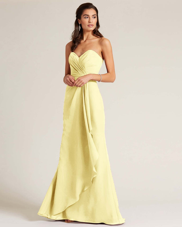 Daffodil Strapless Bow Detail Long Skirt Dress