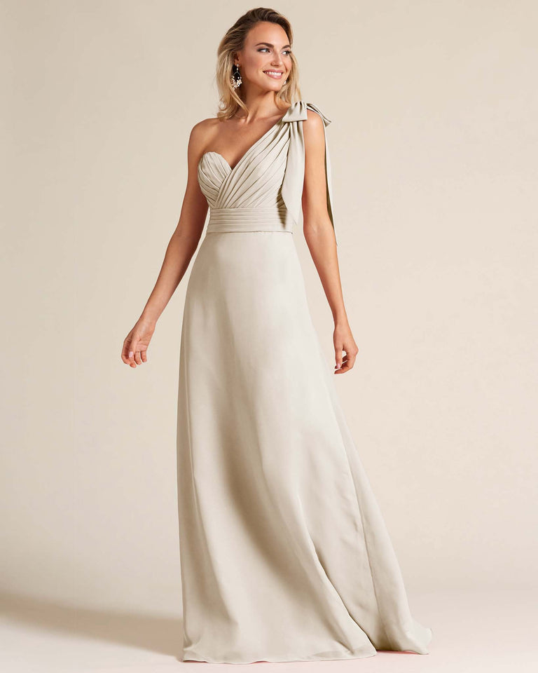 Frost One Shoulder Ruched Formal Gown