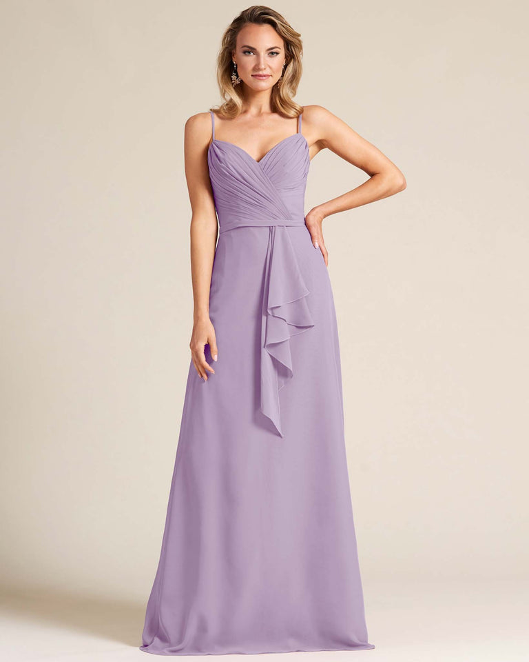 Tahiti Sleeveless Ruched Style Evening Gown