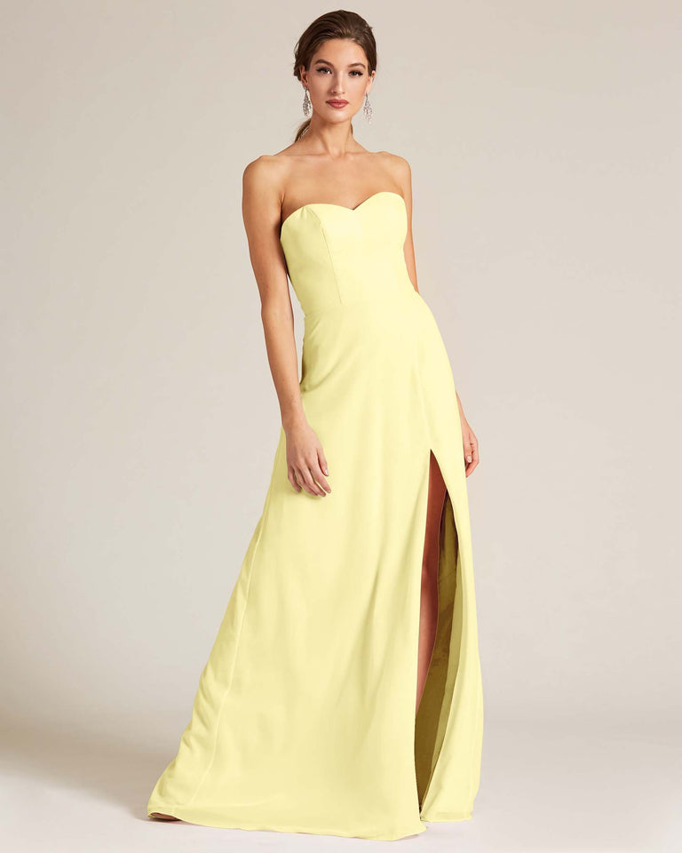 Daffodil Strapless Cut Out Back Formal Gown