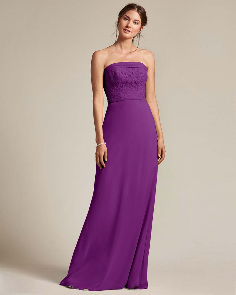 Passion Strapless Embroidered Top Gown With Voluminous Bow Adornment