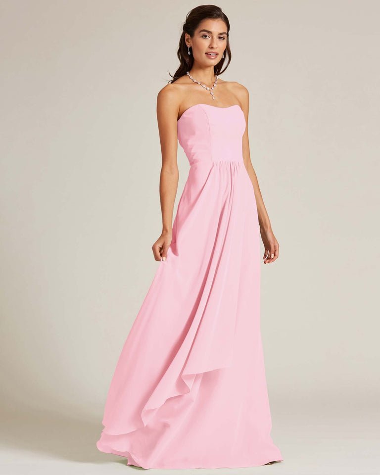 Cherry Blossom Strapless Cut Out Back Dress