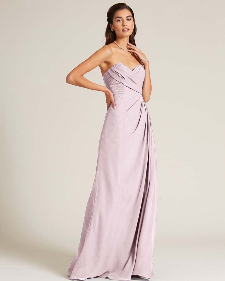Blushing Pink Strapless Sweetheart Neckline Gown