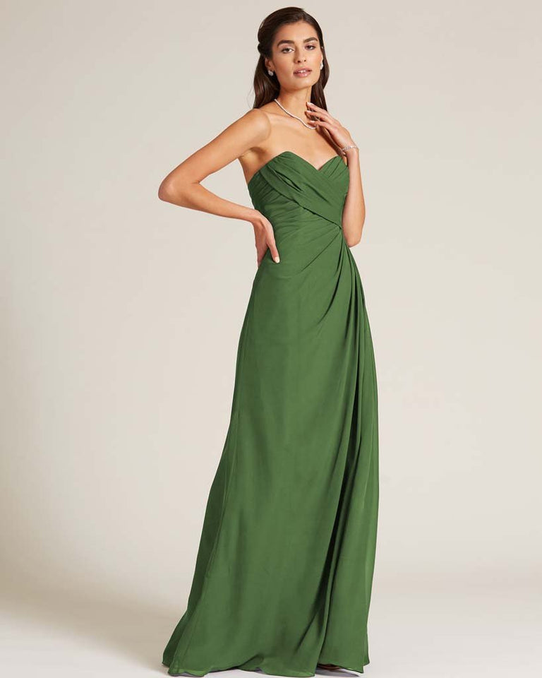 Moss Strapless Sweetheart Neckline Gown