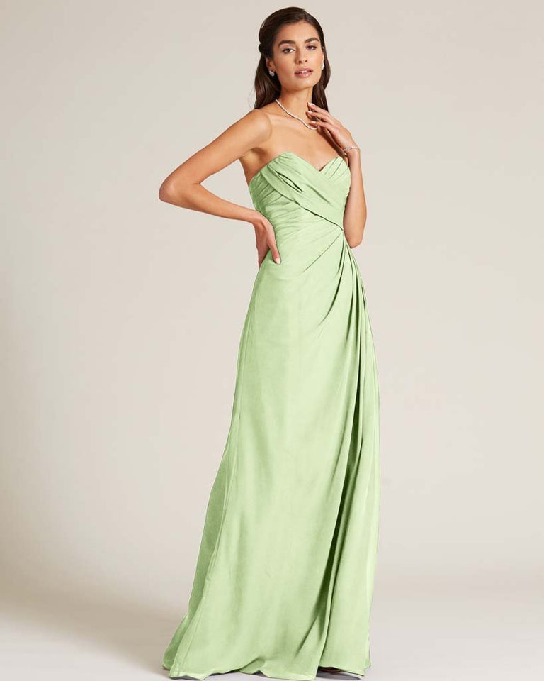 Paradise Sage Strapless Sweetheart Neckline Gown
