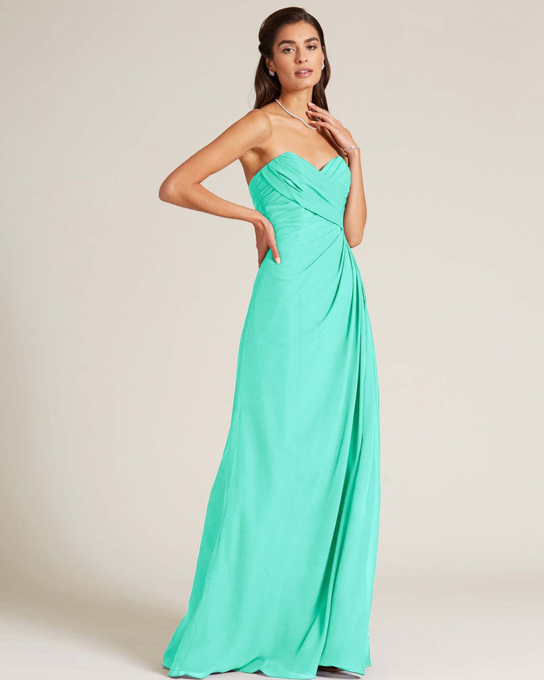 Spa Strapless Sweetheart Neckline Gown