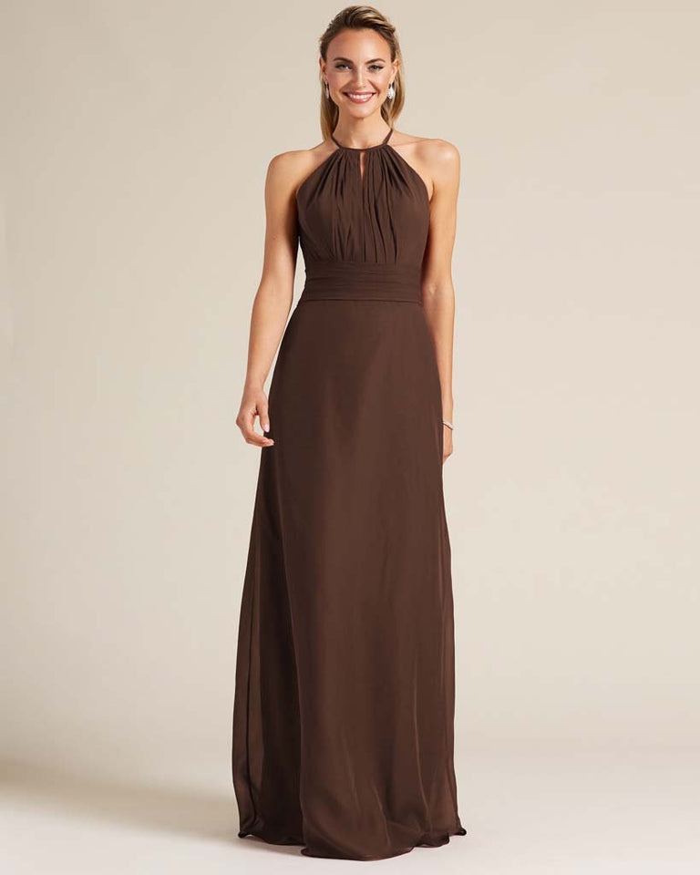 Chocolate Racerback Cut Out Dress