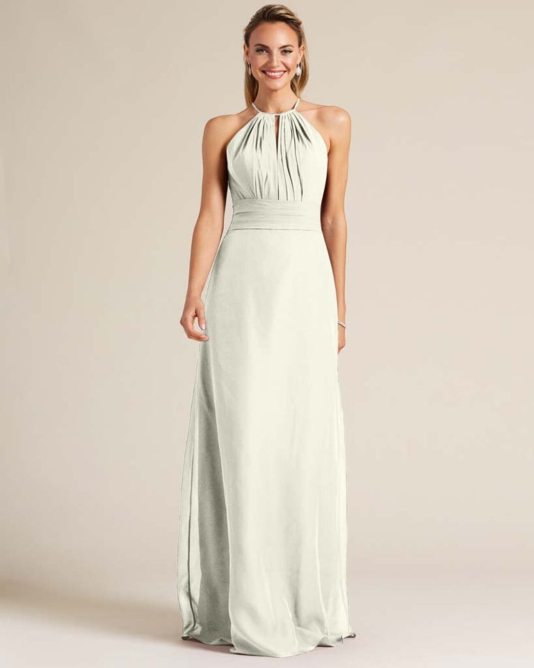 Ivory Racerback Cut Out Dress
