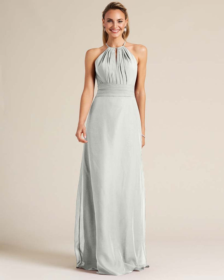 Silver Racerback Cut Out Dress
