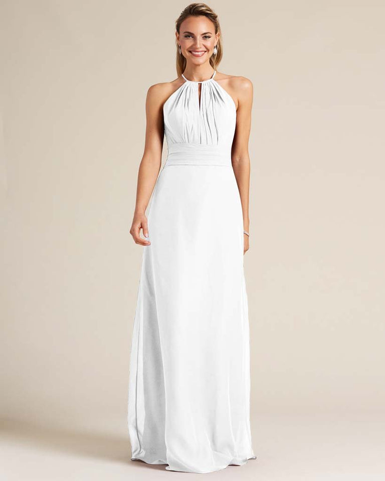 White Racerback Cut Out Dress