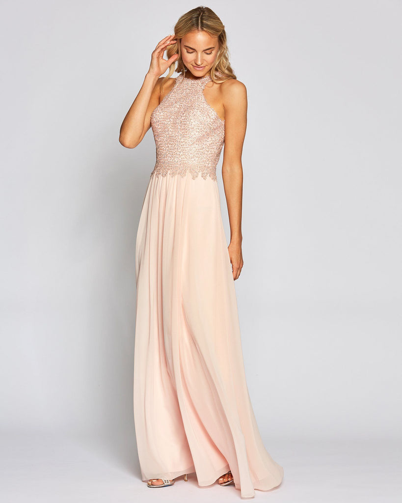 Strapless Peach Long Skirt Grad Dress